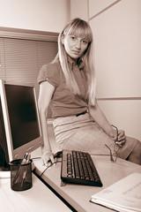 Attractive businesswoman at work