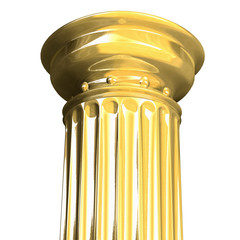 3d rendered illustration from a part of a gold column