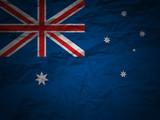 grunge background Australia flag poster