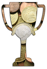 Pokal aus Münzen
