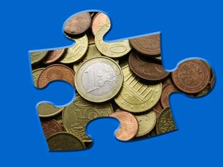 Puzzle aus Geld