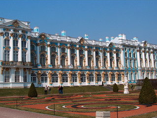 The Catherine Park and Palace near St.-Petersburg, Russia