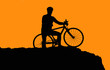 Photo of biker silhouette