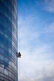 entretien spécialiste immeuble vitre building métier escalade poster