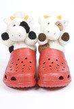 Stuffed Toys in Plastic Red Clogs