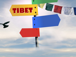 tibet series - tibetan flags