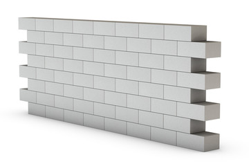 Wall on White