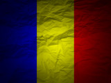 grunge background Romania flag poster