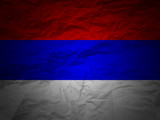 grunge background Serbia flag poster