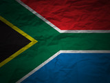 grunge background South Africa flag poster