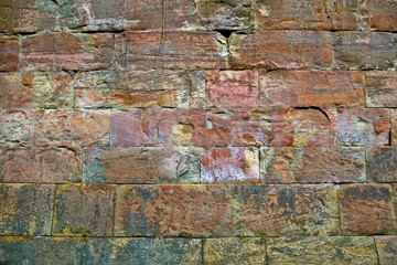 Unique worn brick wall texture
