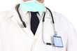 doctor with stethoscope and permit