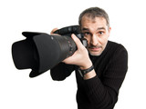 Humorous photographer poster
