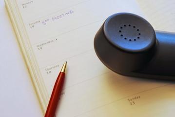 kalender stift telefon