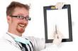 doctor holding a folder of information