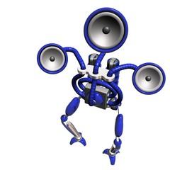 music robot blue