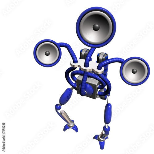music robot blue
