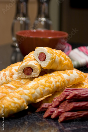 Snack Food Pepperoni Bread Sticks