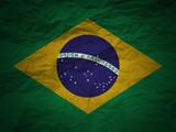 grunge background Brazil flag poster