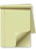 Yellow Legal Pad Corner Paper Page Curl poster