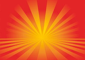 sfondo raggi arancio-rossi