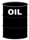 black oil barrel on white background  poster
