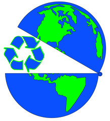 globe open to recycling - environmental