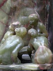 Les causeuses. Statue en marbre. Camille claudel.