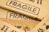 fragile sign close up poster