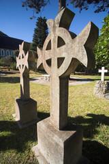 Headstone grave marker