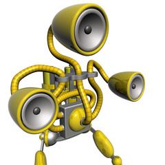 music robot yellow