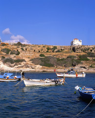 Fishing boats in a bay in southern Cyprus