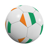 Ivory Coast Soccer Ball poster