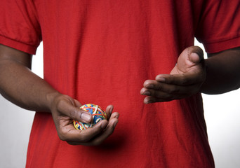 african-american with ball