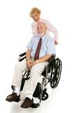 Senior Disabled Man & Wife poster