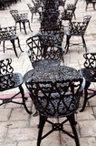 Wrought iron furniture poster