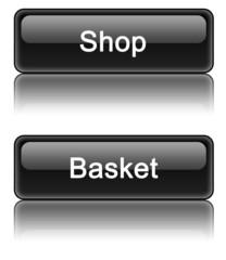 Black web 2.0 Shop / Basket buttons