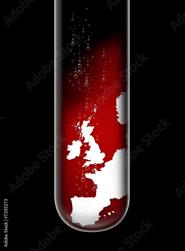 UK map in test tube
