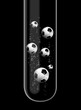Footballs in test tube