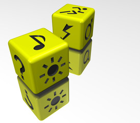 dice yellow