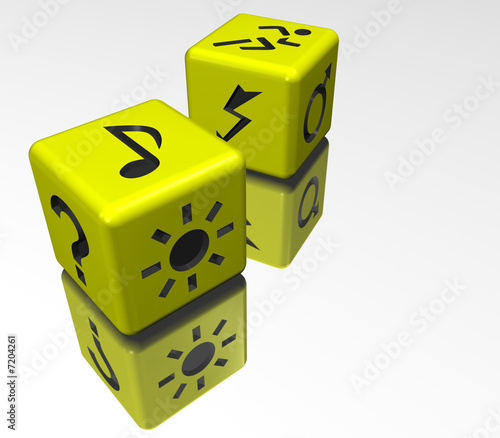 dice yellow