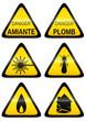 Collection de panneaux de danger (métal)