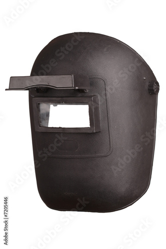 Welding mask isolated on white background