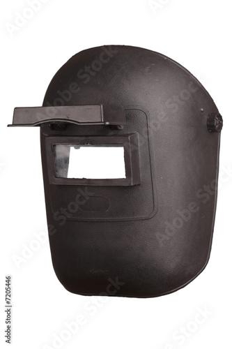 Welding mask isolated on white background