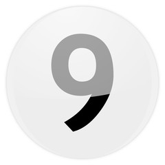white aqua button number nine