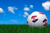 Croatian soccer ball poster