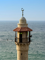 Arab mosque in Old Jaffa facing to sea