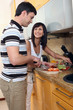 young couple cooking 2