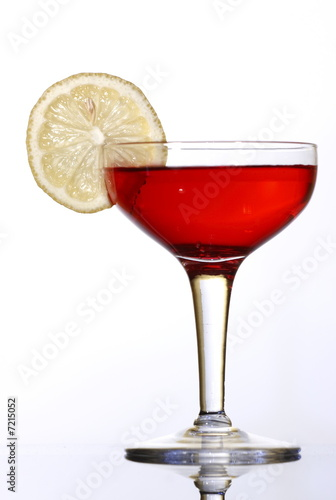 Red colored coctail Poster