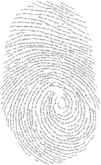 Thumb made with words